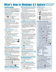 What's New in Windows 8.1 Update (from Windows 7) Quick Reference Guide (Cheat Sheet of New Features & Instructions – Laminated Card)