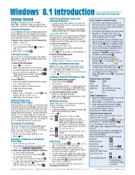 Windows 8.1 Quick Reference Guide: Introduction (Cheat Sheet of Instructions, Tips & Shortcuts – Laminated)
