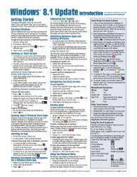 Windows 8.1 Update Quick Reference Guide: Introduction (Cheat Sheet of Instructions, Tips & Shortcuts – Laminated)