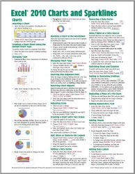 Microsoft Excel 2010 Charts & Sparklines Quick Reference Guide (Cheat Sheet of Instructions, Tips & Shortcuts – Laminated Card)