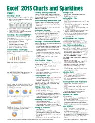 Microsoft Excel 2013 Charts & Sparklines Quick Reference Guide (Cheat Sheet of Instructions, Tips & Shortcuts – Laminated Card)