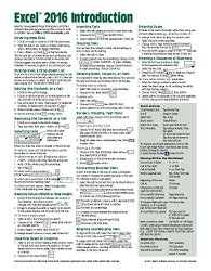 Microsoft Excel 2016 Introduction Quick Reference Guide – Windows Version (Cheat Sheet of Instructions, Tips & Shortcuts – Laminated Card)