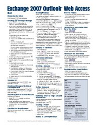 Microsoft Exchange 2007 Outlook Web Access Quick Reference Guide (Cheat Sheet of Instructions, Tips & Shortcuts – Laminated Card)