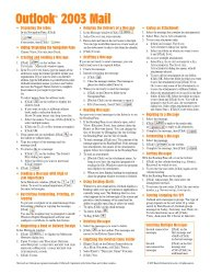 Microsoft Outlook 2003 Mail Quick Reference Guide (Cheat Sheet of Instructions, Tips & Shortcuts – Laminated Card)