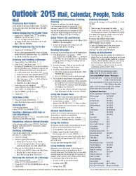 Microsoft Outlook 2013 Mail, Calendar, People, Tasks Quick Reference (Cheat Sheet of Instructions, Tips & Shortcuts – Laminated Guide)
