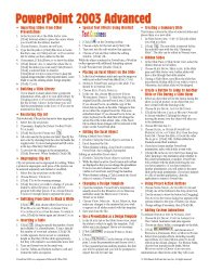 Microsoft PowerPoint 2003 Advanced Quick Reference Guide (Cheat Sheet of Instructions, Tips & Shortcuts – Laminated Card)