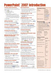 Microsoft PowerPoint 2007 Introduction Quick Reference Guide (Cheat Sheet of Instructions, Tips & Shortcuts – Laminated Card)