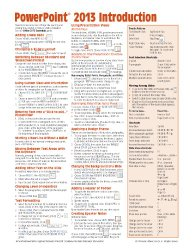 Microsoft PowerPoint 2013 Introduction Quick Reference Guide (Cheat Sheet of Instructions, Tips & Shortcuts – Laminated Card)
