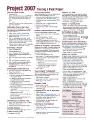 Microsoft Project 2007 Quick Reference Guide: Creating a Basic Project (Cheat Sheet of Instructions, Tip & Shortcuts – Laminated Card)