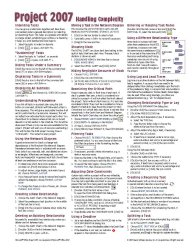 Microsoft Project 2007 Quick Reference Guide: Handling Complexity (Cheat Sheet of Instructions, Tips & Shortcuts – Laminated Card)