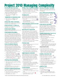 Microsoft Project 2010 Quick Reference Guide: Managing Complexity (Cheat Sheet of Instructions, Tips & Shortcuts – Laminated Card)