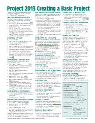 Microsoft Project 2013 Quick Reference Guide: Creating a Basic Project (Cheat Sheet of Instructions, Tips & Shortcuts – Laminated Card)
