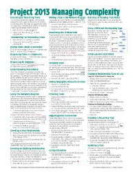 Microsoft Project 2013 Quick Reference Guide: Managing Complexity (Cheat Sheet of Instructions, Tips & Shortcuts – Laminated Card)