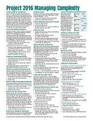 Microsoft Project 2016 Quick Reference Guide Managing Complexity – Windows Version (Cheat Sheet of Instructions, Tips & Shortcuts – Laminated Card)