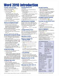 Microsoft Word 2010 Introduction Quick Reference Guide (Cheat Sheet of Instructions, Tips & Shortcuts – Laminated Card)