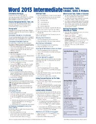 Microsoft Word 2013 Intermediate Quick Reference: Paragraphs, Tabs, Columns, Tables & Pictures (Cheat Sheet of Instructions, Tips & Shortcuts – Laminated Card)