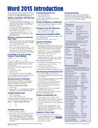 Microsoft Word 2013 Introduction Quick Reference Guide (Cheat Sheet of Instructions, Tips & Shortcuts – Laminated Card)