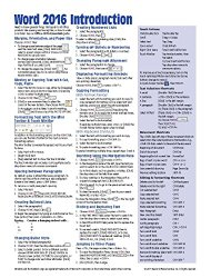Microsoft Word 2016 Introduction Quick Reference Guide – Windows Version (Cheat Sheet of Instructions, Tips & Shortcuts – Laminated Card)