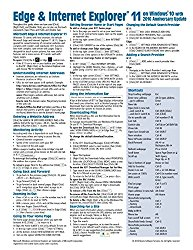 Microsoft Edge and Internet Explorer 11 for Windows 10 Anniversary Update Quick Reference Guide (Cheat Sheet of Instructions, Tips & Shortcuts – Laminated Card)