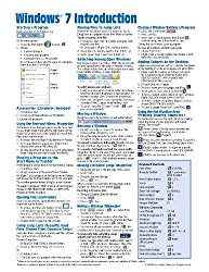 Windows 7 Quick Reference Guide (Cheat Sheet of Instructions, Tips & Shortcuts – Laminated Card)