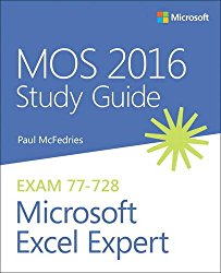 MOS 2016 Study Guide for Microsoft Excel Expert (MOS Study Guide)