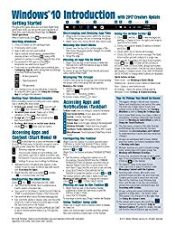 Windows 10 Introduction with 2017 Creators Update Quick Reference Guide (Cheat Sheet of Instructions, Tips & Shortcuts – Laminated)